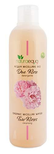 Naturaequa Acqua Micellare BIO Due Rose 250ml, pulizia naturale, delicata e senza lacrime