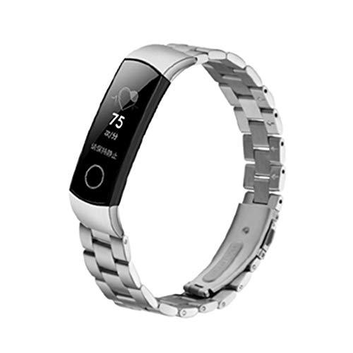 BASSK Bracelet de rechange à libération rapide en acier inoxydable pour Huawei Honor Band 5