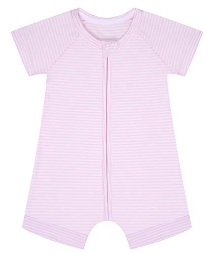 Dim Barboteuse Bebe Juego de Pijama, Rayé Rose Layette/Blanc, 12M para Bebés