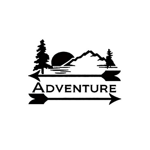 Brand Free 25cm Car Stickers Adventure Outdoors Camping Mountains Trees Decal Sticker for Your Car Truck Window Wall Tablet