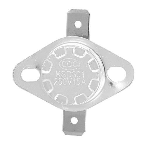 Weikeya Interruptor de termostato, Control de Temperatura Simple 250V de plástico y Hierro 15A