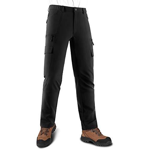 KUTOOK Pantalones Softshell Trekking Hombre Impermeables para Otoño Invierno Pantalones Senderismo Montaña...