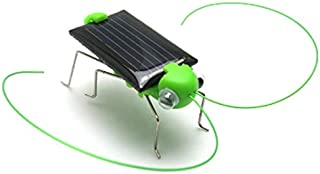 Mini Plastic Solar Power Toy Grasshopper Solar Toy for Kids Children Educational Robot Scary Insect Gadget Trick Novelty Toy