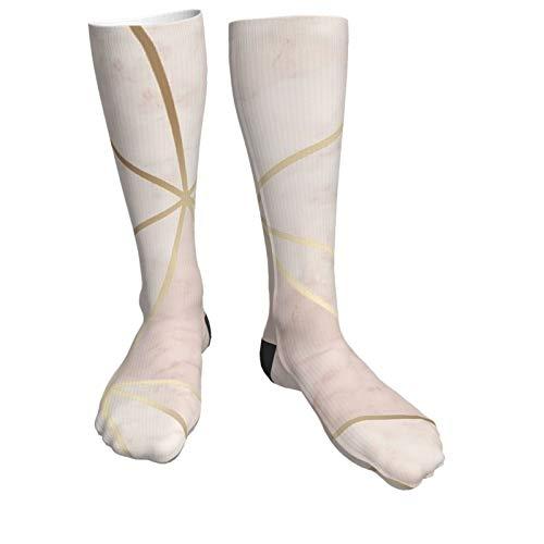 Jack16 Zara Schimmer Metallic Soft Pink Gold Unisex Kniestrümpfe Lange Socken Hohe Stiefel Oberschenkelhoch Strümpfe Beinwärmer Sportstrumpf