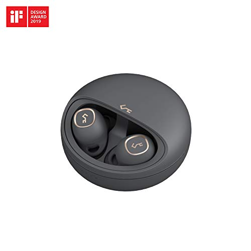 AUKEY Bluetooth Kopfhörer 5 in Ear, 24 Std. Spielzeit mit Ladecase, USB-C und Qi drahtlose Aufladung, IPX5 Wasserdicht, Touch Bedienung, hervorragender Sound, kabellose Ohrhörer Key Series T10