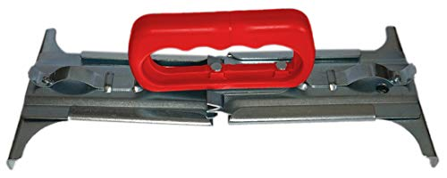 Fliesenheber Verstellbar 300-500 mm Ergonomischer Griff Rot Plattenheber Plattenlift Fliesen Werkzeug Halter Plattenträger Steinheber Steinzange Pflasterzange Greifer flexibel Verlegehilfe cm (Rot, 1)