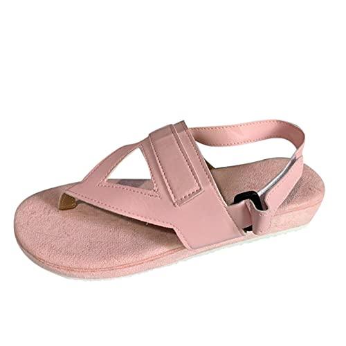 pantofole donna aperte ciabatta da mare donna pantofole in spugna sandali donna estivi comodi sandali legno donna ciabatte donna alte (08A-Pink,36)