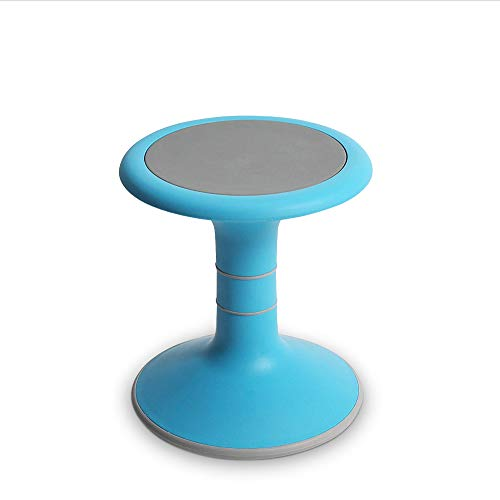 Fixed Wobble Chair for Kids - Ergonomic Wobble Stool to Encourage Right Posture, Balance & Strengthen Core - Sensory School Classroom & Home Chairs - Active Kid ADHD Fidget Seat (Light Blue)