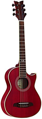 Ortega NL-WALKER-RD Shortscale Travel Gitarre (Cutaway, Tonabnehmer, Luxus Gigbag, Gurt)