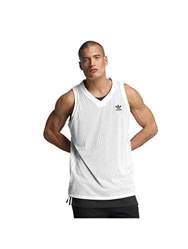 adidas L.A Tank Top–Camiseta de Tirantes para Hombre, Hombre, Color Blanc - (Blanco/Negro), tamaño FR : M (Taille Fabricant : M)