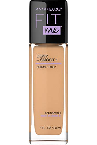 Maybelline New York Fit Me Dewy + Smooth Foundation,125 Nude Beige, 1 Fl. Oz (Pack of 1) (Packaging May Vary)