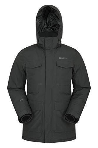 Mountain Warehouse Concord Mens Down Puffer Long Jacket - Warm Black X-Large