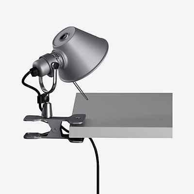 Artemide Tolomeo Micro Pinza LED, Aluminium poliert & eloxiert, 2.700 K