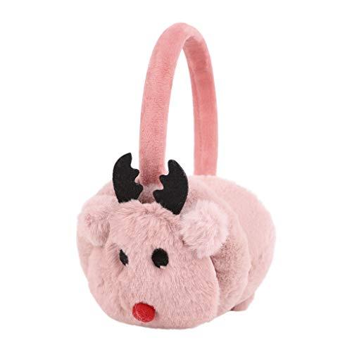 Kids Earmuffs Cartoon Ear Warmer Fluffy Earmuff Faux Fur Ear Cover Coldproof Earplug Soft Ear Protection Gifts (5-10Y)