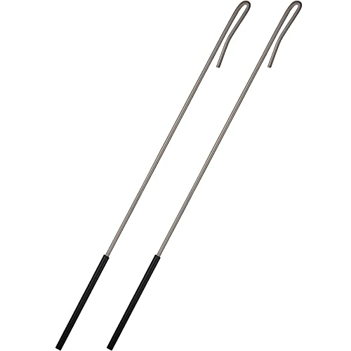 2 Pieces Puppets Rods Arm Control Rod Metal Stainless Steel Puppets Accessory Stick Rubber Protective Sleeve Puppet Rod for Small Ventriloquist Puppet Arm Hand Puppet or Full Body (39 cm/ 15.4 inch)