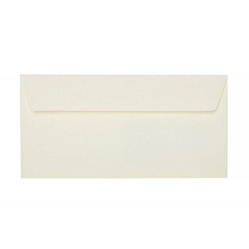50 hochwertige, champagnerfarbene Briefumschläge, DIN lang, 22 x 11 cm mit Haftstreifen
