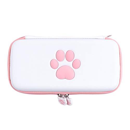 Mikiya Netter Katzen-Tatzen-Aufbewahrungstasche für Switch Lite Konsole Schutzschicht Tragetasche für Lite Spiel Zubehör