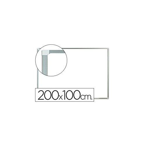 Q-Connect Pizarra Blanca Lacada Magnética Marco De Aluminio 200 x 100 Cm