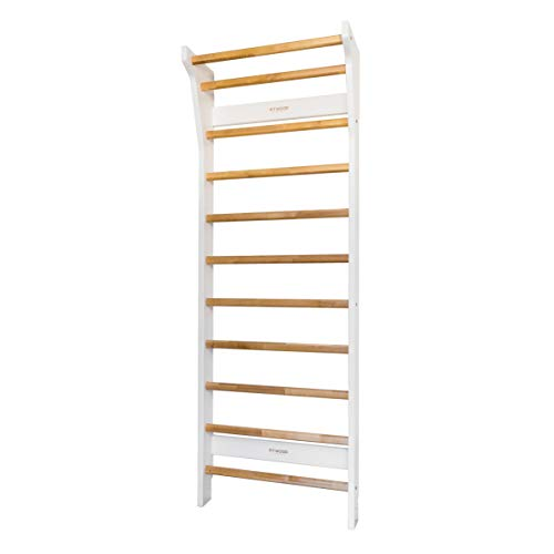FITWOOD™ Homcom UPPLYFT - Espaldera de madera de abedul, color blanco