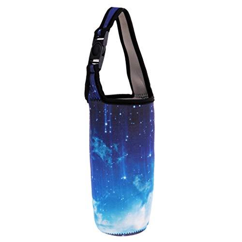 Baoblaze Sac Porte-gobelet pour Tasse Isolée Voyage Camping Randonnée - Bleu Ciel, 26cm