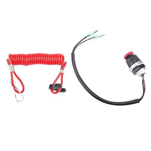 Interruptor de apagado, cable de atadura de seguridad del interruptor de apagado del motor externo para el mercurio marino Tohatsu