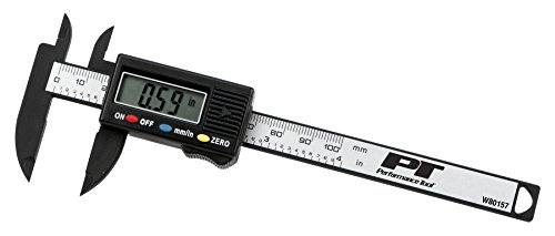Performance Tool W80157 Electronic Digital Caliper with Extra Large LCD Screen, 0 - 4 Inches, Inch/Millimeter Conversion