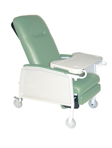 Drive Medical 3 Position Heavy Duty Bariatric Geri Chair Recliner, Jade