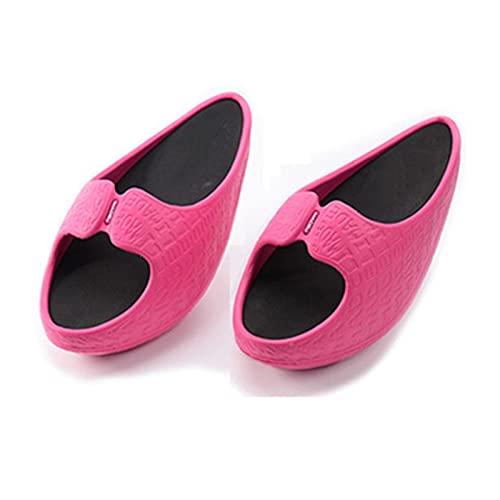 Yokbeer Frauen Abnehmen Hausschuhe Frauen Abnehmen Schuhe Ofenrohr Shake Schöne Beine Schuhe Schnürung Abnehmen Hausschuhe (Color : Pink, Size : M)