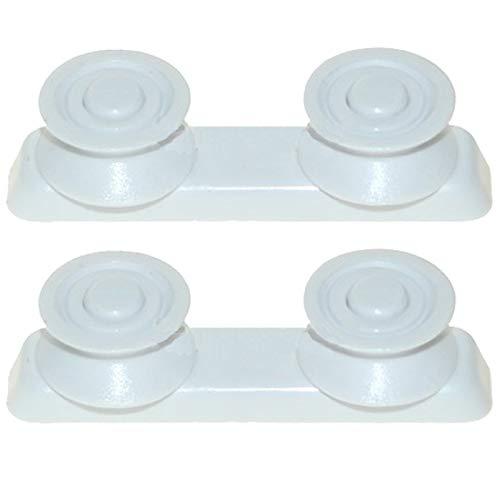 SPARES2GO Ruedas para cesta superior compatibles con lavavajillas Candy (Pack de 2)