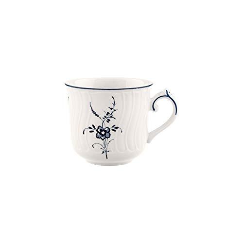 Villeroy und Boch Vieux Luxembourg Kaffeetasse, 200 ml, Höhe: 8,3 cm, Premium Porzellan, Weiß/Blau