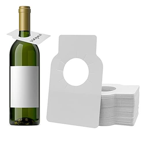 100Pcs Etiquetas para Botellas de Vino, Etiquetas para Vinos para Bodega Hogar impermeables reutilizables para estante de vino organización del hogar