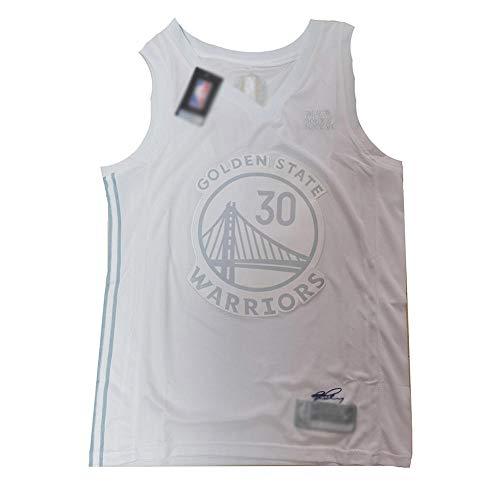 BCGG® # 30 Stephen · Curry-Basketball-Fan-Trikot, ärmelloses T-Shirt mit Warriors-Weste, MVP Platinum-Version Boutique-Stickerei Tops Boys-A_XXL
