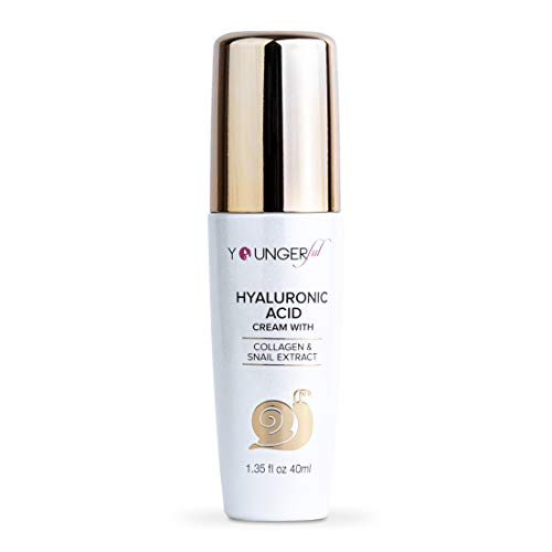 Youngerful Premium Under Eye Cream - Day and Night Anti Aging Face Moisturizer for Women - Collagen Cream with Snail Mucin Extract - Pure Hyaluronic Acid for Face - Korean Skin Care Snail Cream