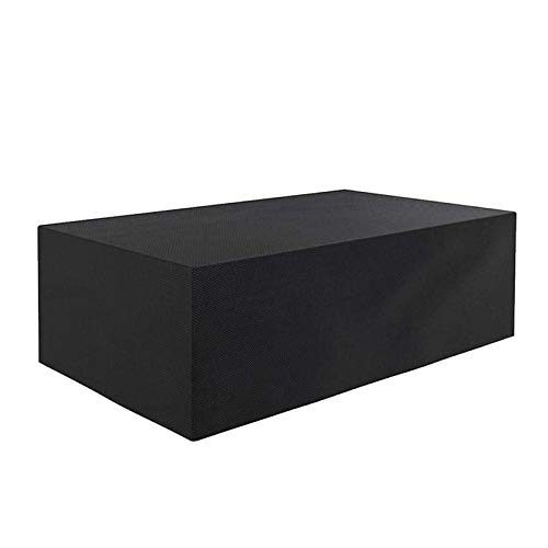 BWBG Copertura Impermeable para Mesas Rectangular, Impermeable Funda Protectora para Muebles Anti-UV 420D Oxford Protección Exterior Muebles De Jardín Sofá Mesa Silla-Negro - 130 * 130 * 74cm
