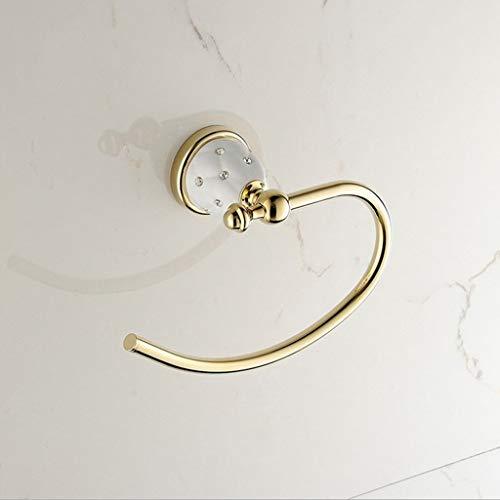 ZEQUAN Anillo de Toalla de baño Cuarto de baño Hardware Ronda Toalla Que cuelga Punch-free22cm * 14cm * 6.5cm
