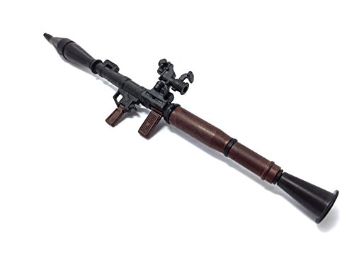 1/6 Scale RPG-7 Rocket Propelled Grenade Launcher Anti-Tank Bazooka Russian Army Fit for 12' Action Figure (Mini Toy Gun 7' Long)