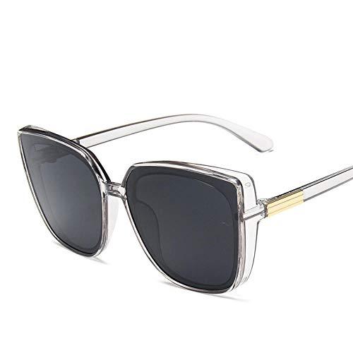 DLSM Gafas de Sol de Gran tamaño Rectangular Cuadrado Gafas de Sol ovaladas Hombres/Mujeres Gafas Pesca Ciclismo Viaje montañismo Golf-Gris Gris