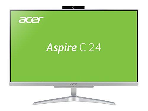 "Acer Aspire C24-860 2.7GHz i3-7130U 7ª generación de procesadores Intel® Core i3 23.8"" 1920 x 1080Pixeles Plata PC Aspire C24-860, 60,5 cm (23.8""), Full HD, 7ª generación"