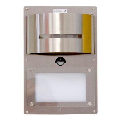 Grafner® Edelstahl Wandlampe mit Hausnummer beleuchtet mit Bewegungsmelder LED Lampe Hausnummernleuchte