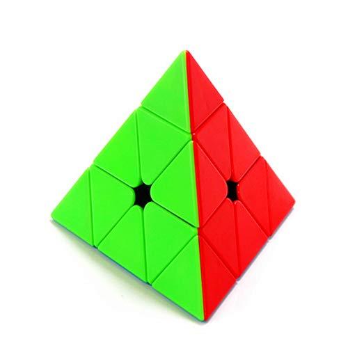 CuberSpeed Moyu MoFang JiaoShi Meilong Pyraminx stickerless Magic Cube Cubing Classroom Meilong Pyramid Speed Cube
