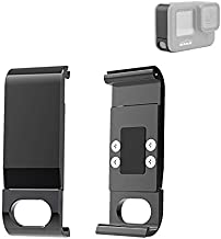 Metal Side Door Battery Cover for GoPro Hero 9 Black Replacement, Aluminum Alloy Removable Battery Case Cover Protective T...