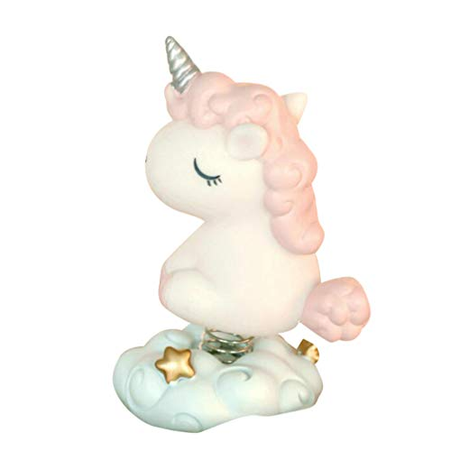 SUPVOX Figura de Unicornio Pastel Topper Resina Primavera Unicornio Figura Estatua Adorno de Juguete para Baby Shower Cumpleaños Hogar Jardín Decoración (Rosa)