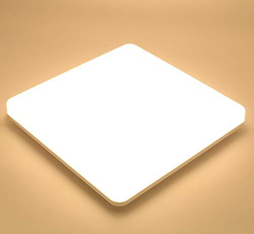 Lamker Led Deckenleuchte 24W Deckenlampe IP44 Wasserfest Warmweiß 3000K 2000LM Panel Kein Flimmern Lampe für Schlafzimmer Badezimmer Balkon Flur Bad Küche Wohnzimmer Ersetzt 150W Glühbirne