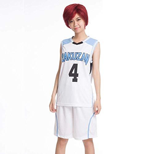 GGOODD Anime Kuroko No Basket Akashi Seijuro Basketballkleidung Cosplay Costume Halloween Damen Herren RAKUZAN 4# Jersey Sportbekleidung,Blau,S
