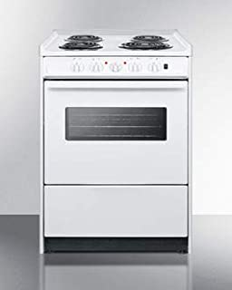 Summit WEM610RW 24 Inch Slide-in Electric Range in White