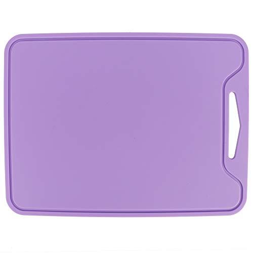Tabla de cortar flexible de silicona púrpura para la cocina casera
