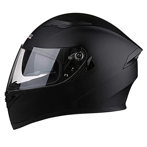 CHICTI Cascos De Motocicleta para Hombres Y Mujeres Moto Integral ECE ECE Homologado A Prueba De Viento con Doble Visera para Adultos Abatible (Color : B, Size : M)