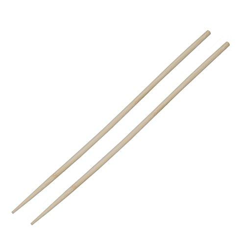 TOOGOO Une paire de 45cm Baguettes longs de bambou beiges pour la fondue