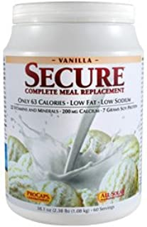 Andrew Lessman Secure Soy Complete Meal Replacement - Vanilla, 30 Servings