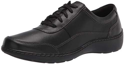 Clarks Women s Cora Calica Sneaker Black Leather 12 Wide product image